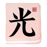Kanji Light baby blanket