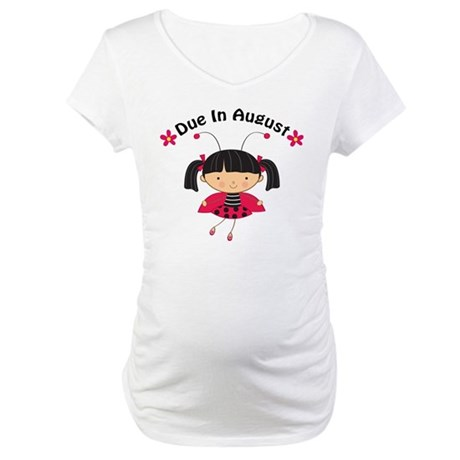 Cute August Pregnancy Maternity T-Shirt