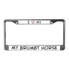 I Love Brumby Horse License Plate Frame