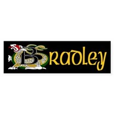 Bradley Celtic Dragon Bumper Sticker