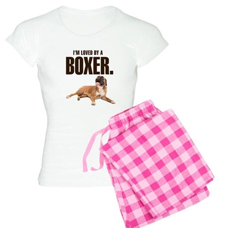 Loved by a Boxer Women's Light Pajamas