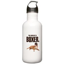 Loved by a Boxer Water Bottle