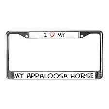 I Love Appaloosa Horse License Plate Frame