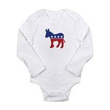 Democrat Donkey Long Sleeve Infant Bodysuit