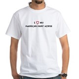 I Love American Paint Horse Shirt