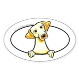 Yellow Lab Peeking Decal