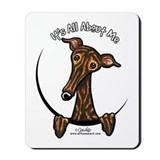 Brindle Greyhound IAAM Mousepad