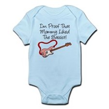 Proof Mommy Liked Bassist Pin Onesie