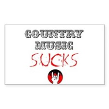 Country Music Sucks Sticker (Rectangle)