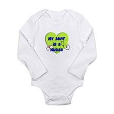 Nurse's Kids Long Sleeve Infant Bodysuit