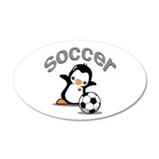 Soccer Penguin (6) Wall Decal