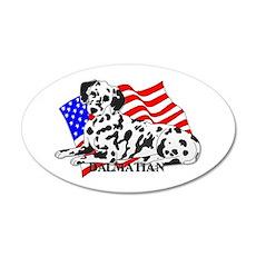 Dalmatian USA 38.5 x 24.5 Oval Wall Peel