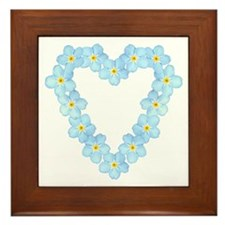 Forget Me Not Framed Tile