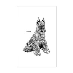Schnauser Dog Mini Poster Print