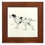 English Setter Dog Framed Tile