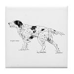 English Setter Dog Tile Coaster