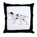 English Setter Dog Throw Pillow