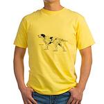 English Setter Dog (Front) Yellow T-Shirt