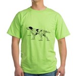 English Setter Dog Green T-Shirt