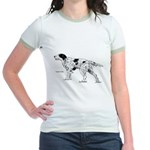 English Setter Dog Jr. Ringer T-Shirt