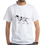 English Setter Dog White T-Shirt