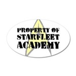 Property of Starfleet Academy 38.5 x 24.5 Oval Wal