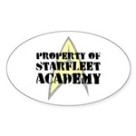 Property of Starfleet Academy Sticker (Oval 10 pk)