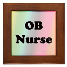 Cute Ob nurse Framed Tile