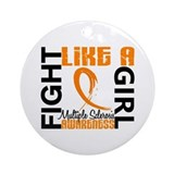 Fight Like A Girl Multiple Sclerosis Ornament (Rou