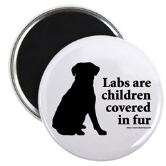 Lab are Fur Children Magnet