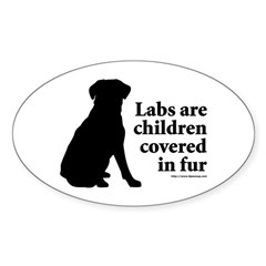 Lab are Fur Children Sticker (Oval)