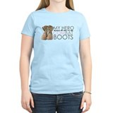My Hero wears Combat Boots T-Shirt