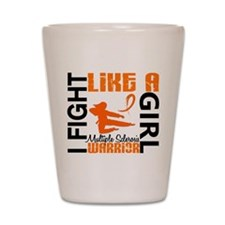 Fight Like A Girl Multiple Sclerosis Shot Glass