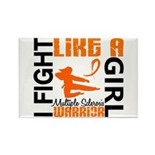 Fight Like A Girl Multiple Sclerosis Rectangle Mag