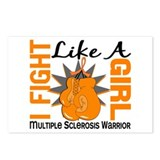 Fight Like A Girl Multiple Sclerosis Postcards (Pa