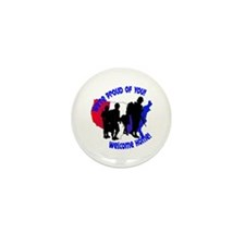 Welcome Home Soldiers Mini Button (100 pack)