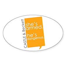 Castle Sticker (Oval 10 pk)