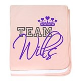 Team Wills Royal Crown baby blanket