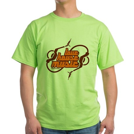 Love House Music Green T-Shirt