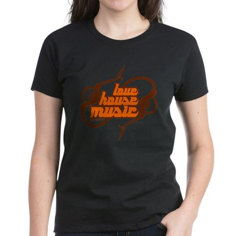 Love House Music Women's Dark T-Shirt