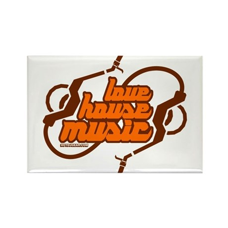 Love House Music Rectangle Magnet