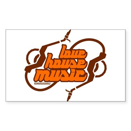 Love House Music Sticker (Rectangle)