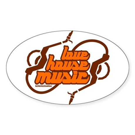 Love House Music Sticker (Oval)