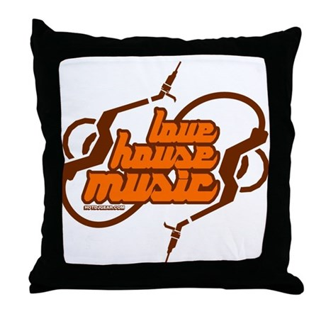 Love House Music Throw Pillow