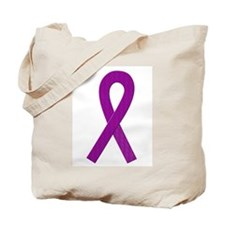 Purple Ribbon Tote Bag