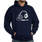 White Retro Headphone Hoody