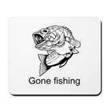 Gone fishing Mousepad