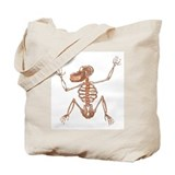 Baboon Skeleton Tote Bag