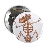 Baboon Skeleton Button