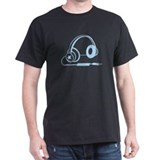 Blue Retro Headphone T-Shirt